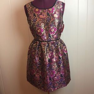 3/$27 Xhilaration Metallic Floral Party Dress